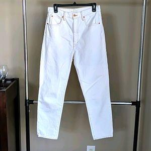 SLVRLake Beatnik white jeans high rise 28 29
